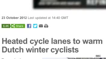 Heated Bicycle Lanes for Netherlands