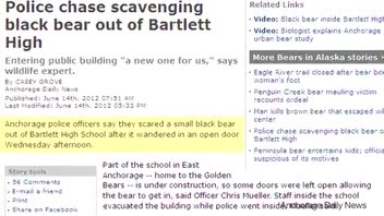 Bear Walked into an Alaska High School