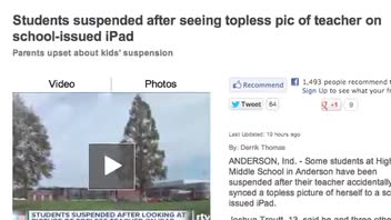 Students in Hot Water Over Teacher's Topless Photo