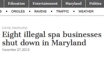Maryland Spas Allegedly Doubled as Brothels