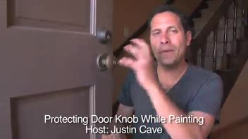 10 Sec Tip - Protecting Door Knob While Painting