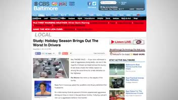 Aggressive Driving Peaks During Holidays