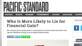 Study Shows Who Is Most Likely to Lie for Money