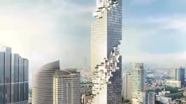 Skyscraper Design Resembles Crumbling Building