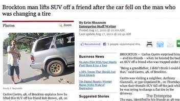Man Lifts SUV, Saves His Friend