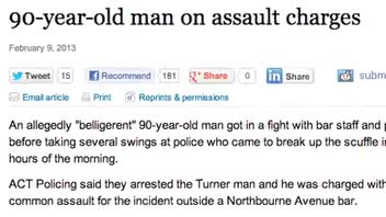 90-Year-Old Throws Punches at Bouncer and Police