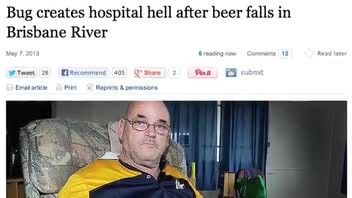 Man Has Basketball Sized Hernia After Drinking Contaminated Beer