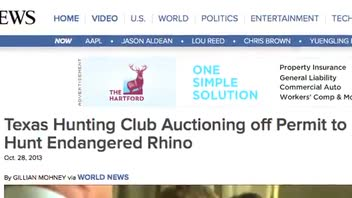 Endangered Rhino Hunting Permit Being Auctioned by Texas Club