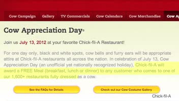 Dress Like a Cow, Get a Free Meal