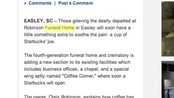 Starbucks to Open in a Funeral Home