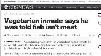 Inmate's Quest to Get Vegetarian Meal