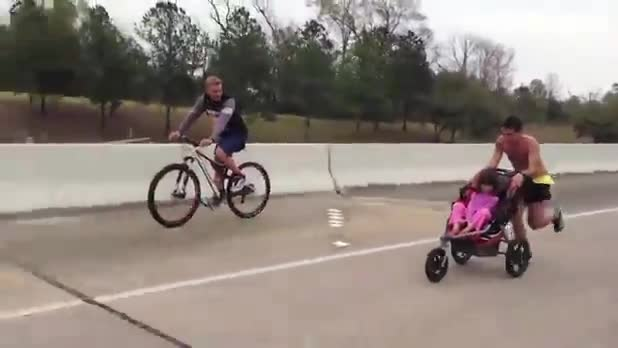Cancer Patient Wins Marathon While Pushing Daughter in Stroller