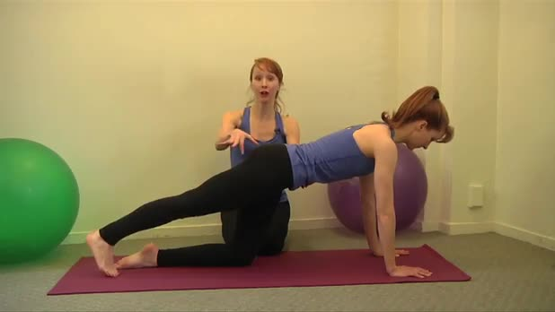 How to Do Pilates Leg Pull-Front Exercise - Women's Fitness