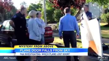 Part of Jet Door Falls From Sky