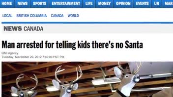Man Arrested for Telling Children There is No Santa Claus