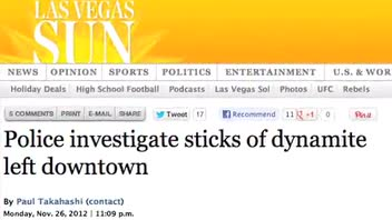 Sticks of Dynamite Discovered in Las Vegas Street