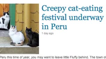 Peru's Cat Eating Festival Under Fire