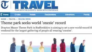Amusement Park Plans to Attempt Onesie Wearing World Record