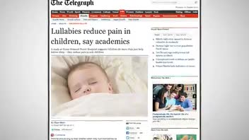 Lullabies Ease Children's Pains