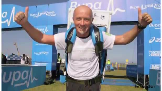 Man Completes 30 Half-Marathons With Fridge Strapped To Back