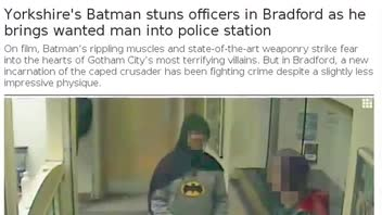 Man Dressed as 'Batman' Drops Suspect Off at Police Station