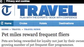More Airlines Offering Rewards for Pets