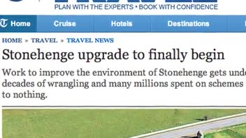 Stonehenge Site Undergoes Renovation