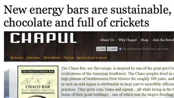 New Energy Bar Includes Crickets in Ingredients