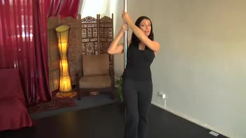 Pole Dancing for Fitness - Fan Kick to a Bridge
