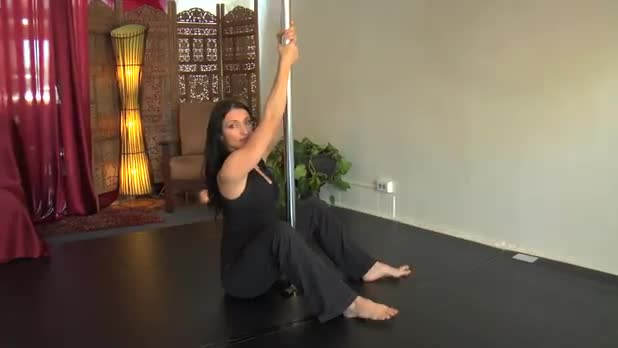 Pole Dancing for Fitness - Seated Pull Up