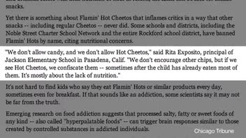 Schools Banning Flamin' Hot Cheetos