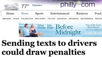 Texting a Driver Could Mean Jail Time