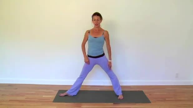 Kundalini Yoga - Warrior Pose with Moving Arms - Women's Fitness