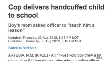 11-Year-Old Dropped Off at School in Handcuffs