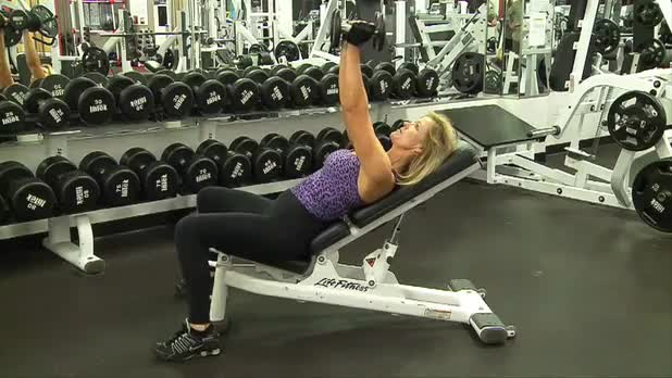 How to Do Incline Dumbbell Flye - Women's Fitness