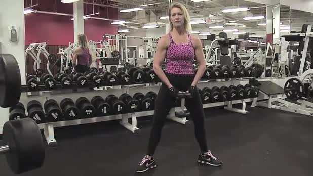 How to Do Sumo Squats with Dumbbell - Women's Fitness