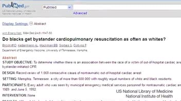 Are Blacks Less Likely to Get Attention During Cardiac Arrest?
