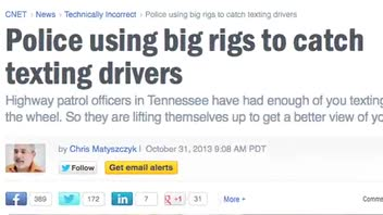 TN Police Use Big Rigs to Nab Texting Drivers