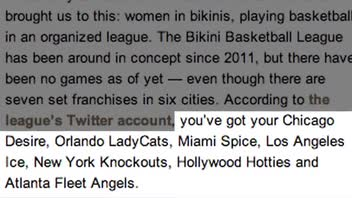 Bikini Basketball League Coming to a Town Near You