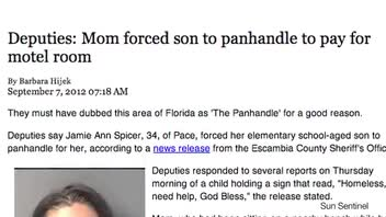 Florida Mom Makes Son Panhandle for Money