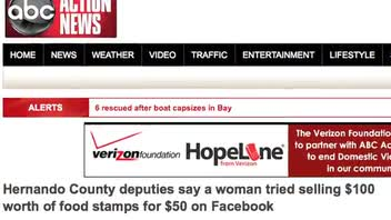 Woman Allegedly Sold Food Stamp Card on Facebook