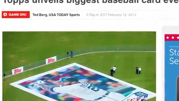 World's Largest Baseball Card Unveiled