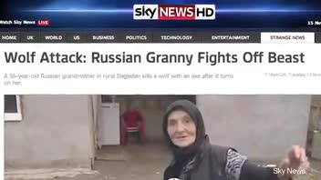 Granny Takes on Nasty Wolf Singlehandedly