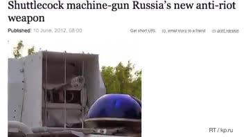 Russia Announces the Shuttlecock Machine Gun