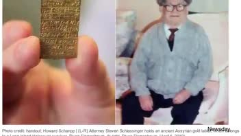Ancient Assyrian Gold Tablet Ordered Back to Germany