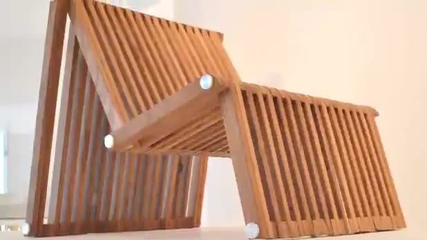 Chair Also Turns Into a Table or Bed