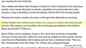 Fate of Old Pianos These Days
