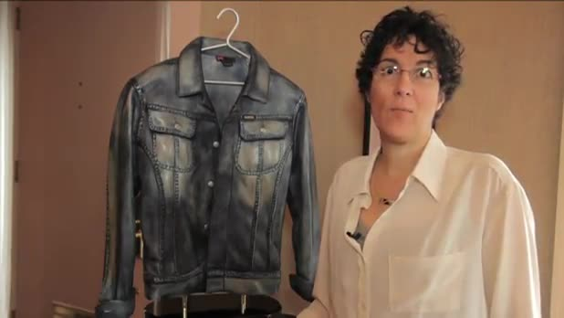 Art Showcase - Jean Jacket Sculpture