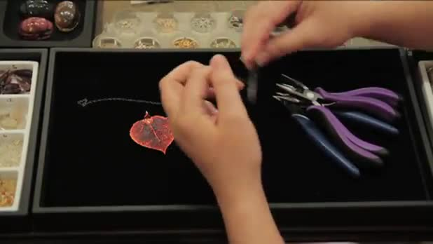 Jewelry Making: How to Make Leaf Charm Necklace