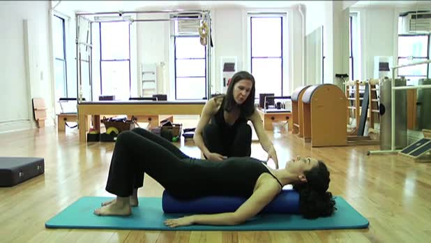 Pilates Footwork on the Roller - Women's Fitness